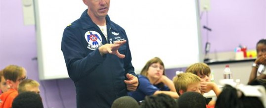 STARBASE ROBINS Students Meet Thunderbird Pilot